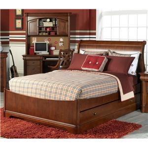 Holland House Petite Louis Full Sleigh Bed with Trundle Storage