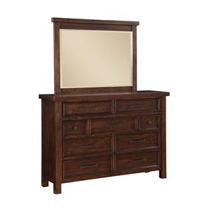 Holland House Sonoma Drawer Dresser and Mirror