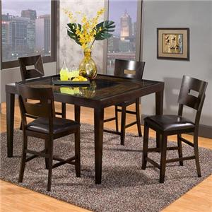 Holland House Townhouse 5 Piece Counter Height Set