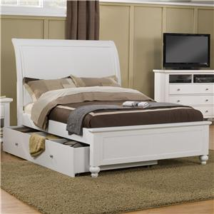 Holland House Tracy  Full Sleigh Bed with Trundle