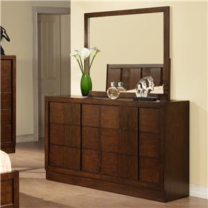Holland House Uptown Door Dresser with Mirror