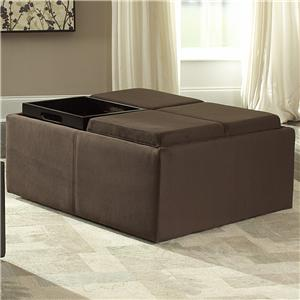 Cocktail Ottoman with Storage Covers