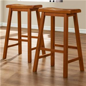 29 Inch Stool with Curved Saddle Seat