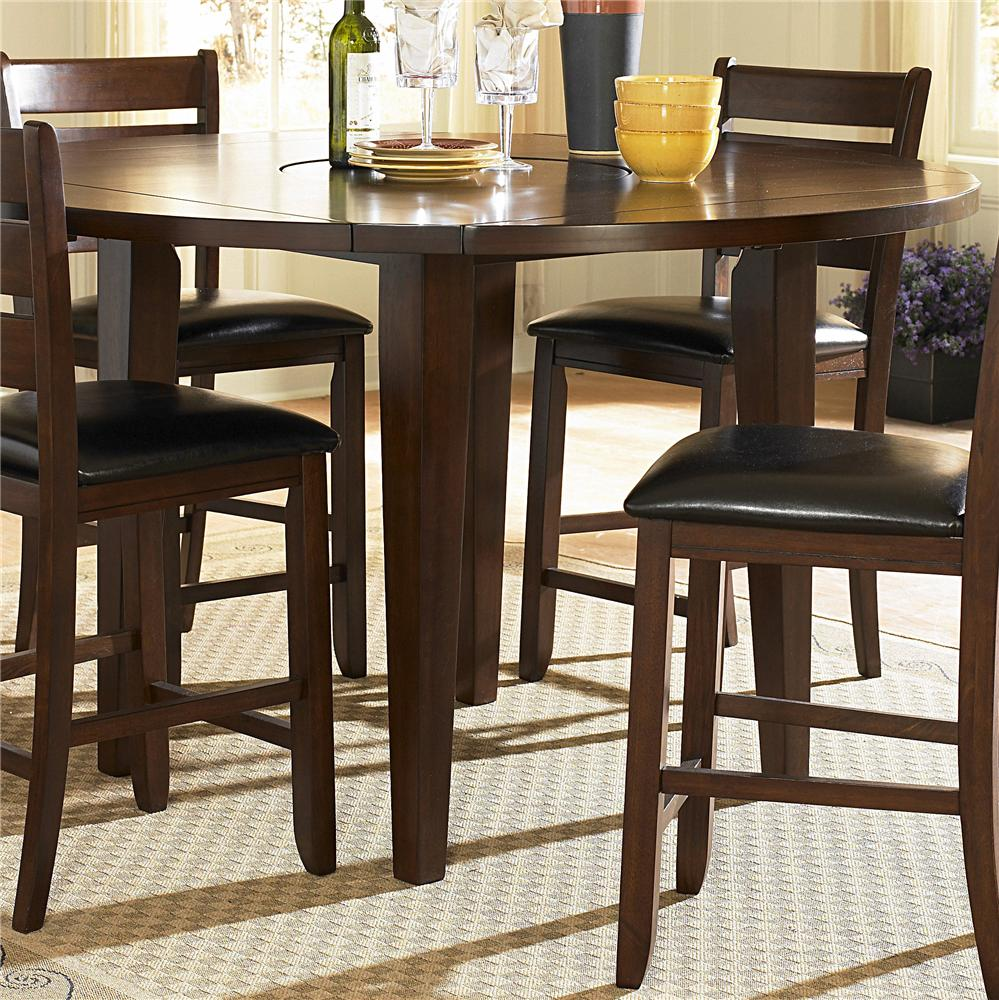 Ameillia Round Counter Height Drop Leaf Table  by Homelegance at Nassau Furniture and Mattress