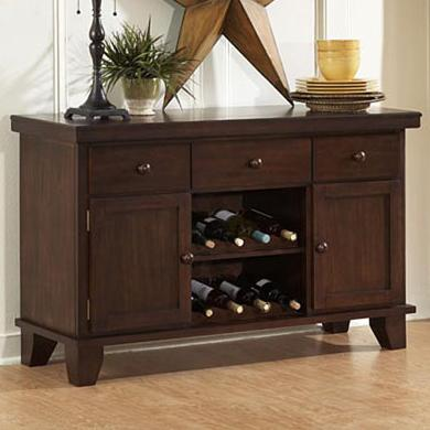 Ameillia Server with Two Wine Racks  by Homelegance at Carolina Direct
