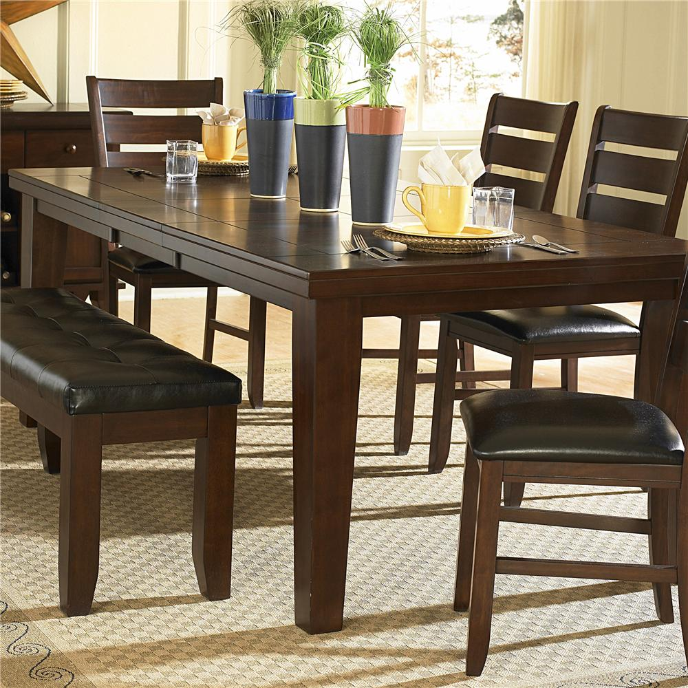 Ameillia Dining Table, Dark Oak Finish by Homelegance at Lindy's Furniture Company