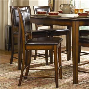 X-Back Counter Stool with Faux Leather Back and Seat