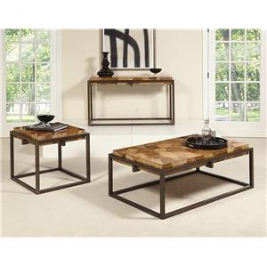 3 Piece Burl Wood  Group