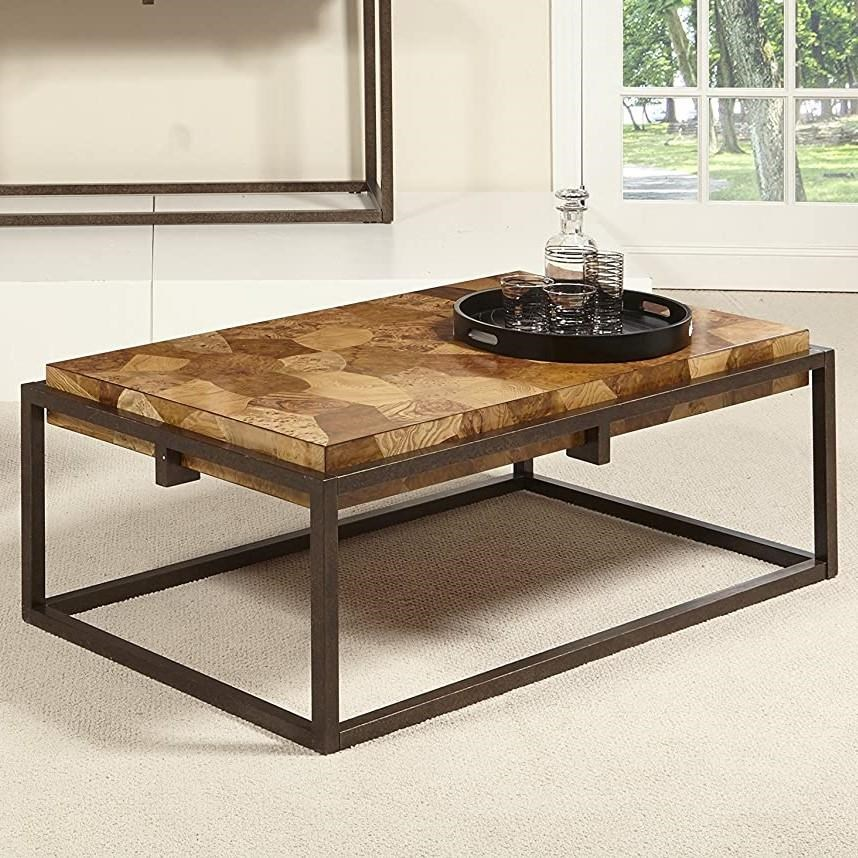 Burl Wood Cocktail Table