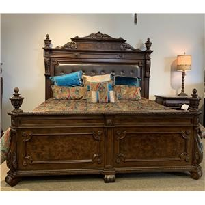 King Leather Tufted Headboard and Footboard