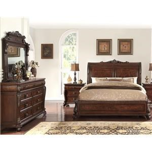 5 Piece Elizabeth Sleigh Bed Group