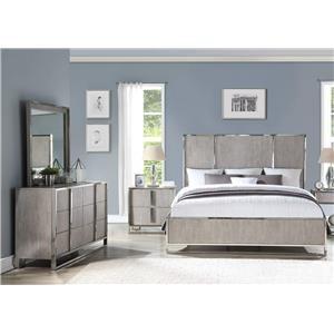 King Bed, Dresser, Mirror & Nightstand