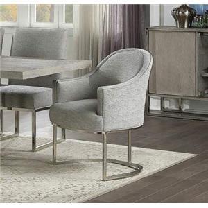 Metal Base Dining Chair