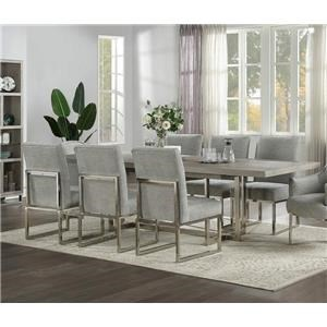 Trestle Table & Six Side Chairs