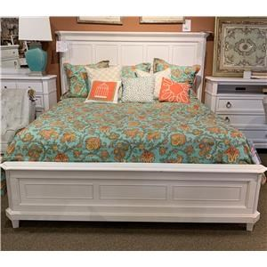Wood Panel King Bed