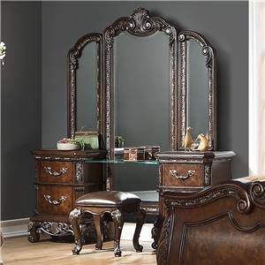 Vanity With Triple Mirror