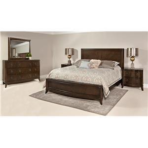 Home Insights Tribeca Bedroom Walnut Queen Curved Bedroom Suite