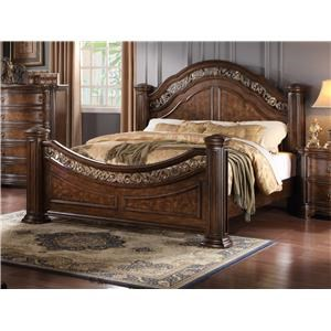 Queen Bed with Metal Inserts