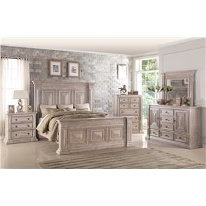 Dresser, Mirror and Complete 3 Pc King Bed