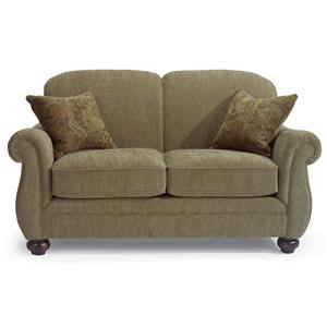 Love Seat with Bun Feet