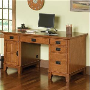 Home Styles Arts and Crafts Double Pedestal Desk