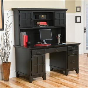 Home Styles Arts and Crafts Double Pedestal Desk and Hutch