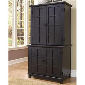 Home Styles Arts and Crafts Compact Office Cabinet with Hutch