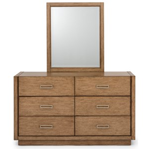 Casual Dresser and Mirror Set