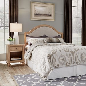 Country Style Queen Headboard & Nightstand Set
