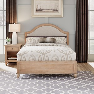 Country Style Queen Bed & Nightstand Set