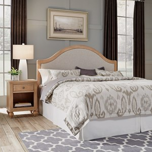 Country Style King Headboard & Nightstand Set