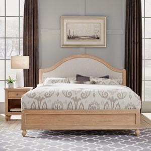 Country Style King Bed &  Nightstand Set