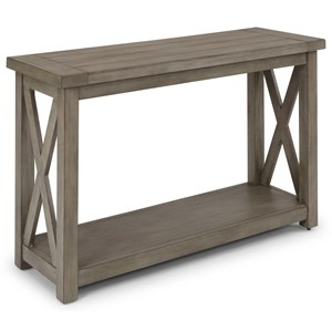Farmhouse Console Table with Plank Top