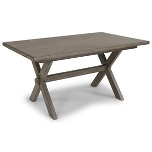 Farmhouse Dining Table with Trestle