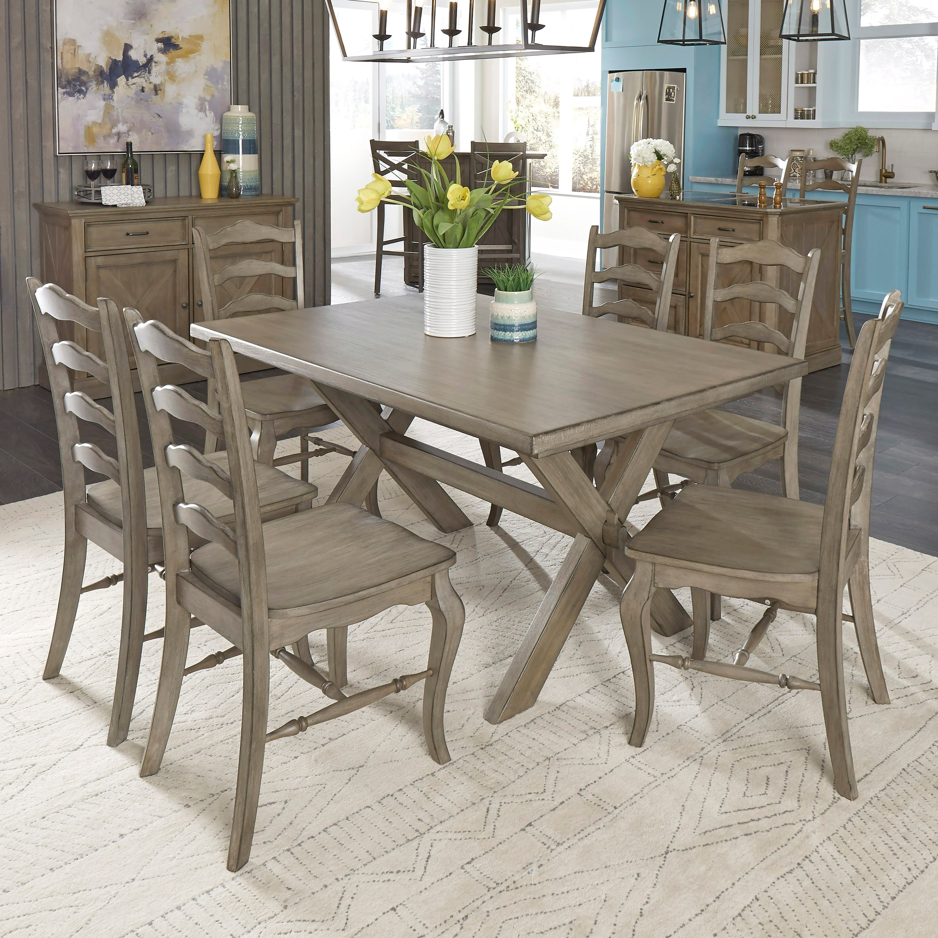 Mountain Lodge 7-Piece Table and Chair Set by Homestyles at Northeast Factory Direct