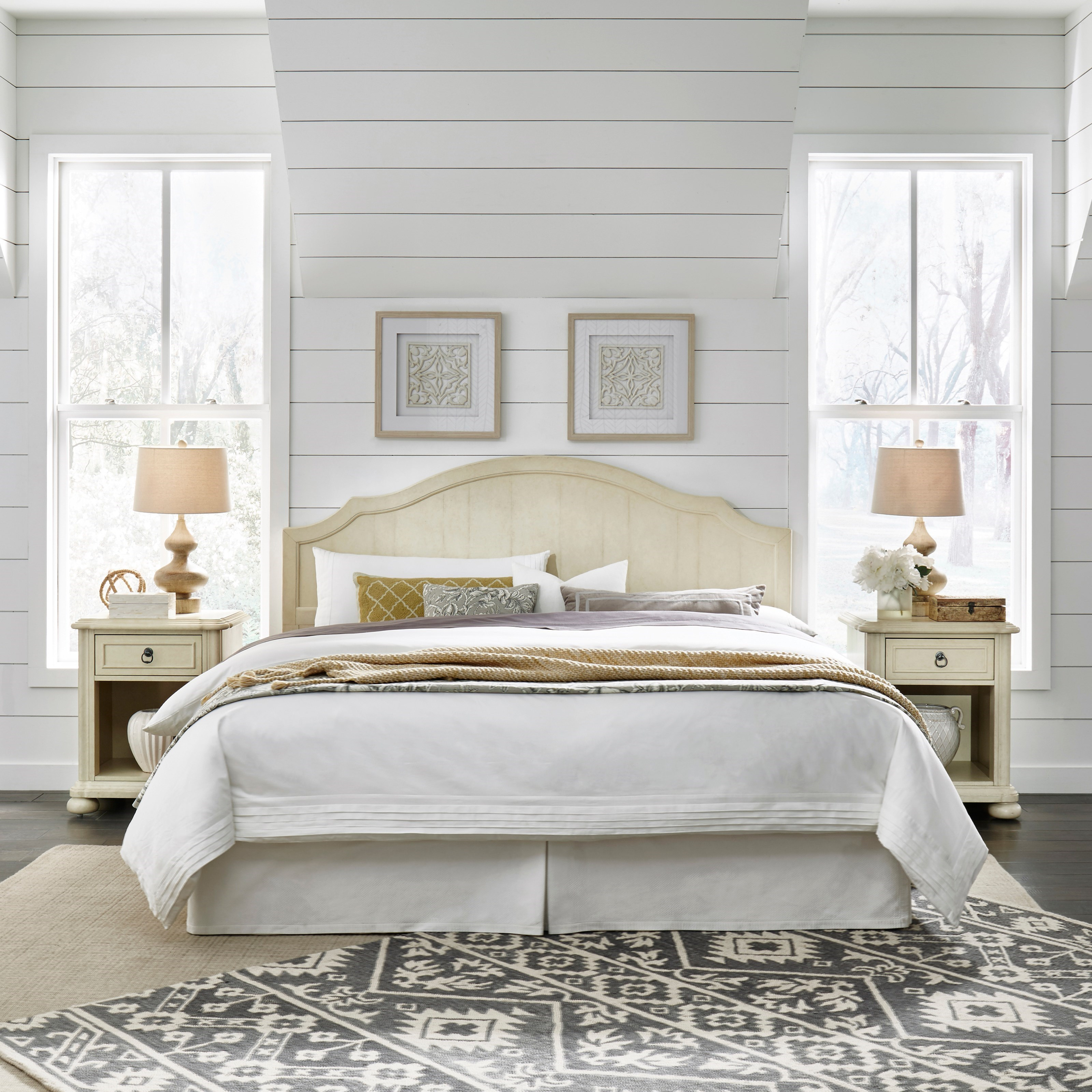 Provence King Bedroom Group by Homestyles at Sam Levitz Furniture