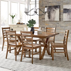 Traditional Dining Table & 6 Chairs