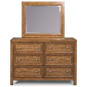 Traditional Dresser & Mirror Set