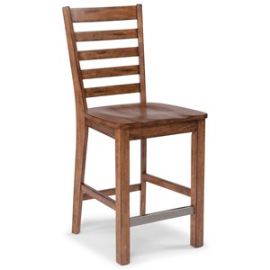 Traditional Wooden Counter Height Bar Stool