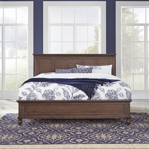 Traditional King Panel Bed with Carved Feet