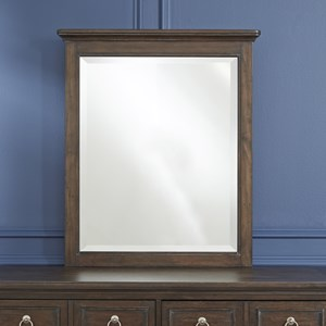 Traditional Dresser Mirror with Beveled Edge