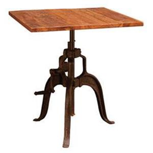 Adjustable Square Pub Height Table