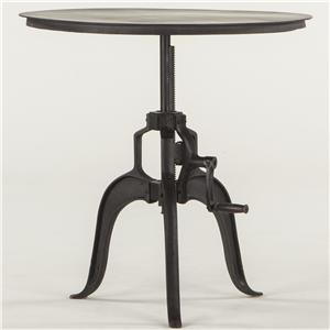 Metal Round Adjustable Base Table
