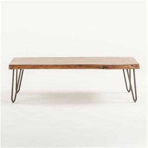 Cocktail Table with Metal Legs