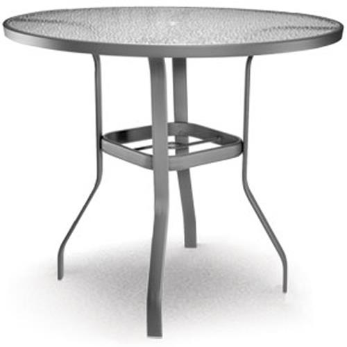 """Glass 48"""" Bar Table with Umbrella Hole by Homecrest at Westrich Furniture & Appliances"""