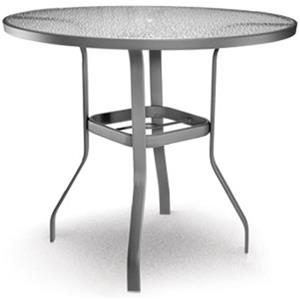 "Homecrest Glass 48"" Bar Table with Umbrella Hole"
