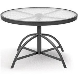 "Homecrest Glass 30"" Adjustable Table"