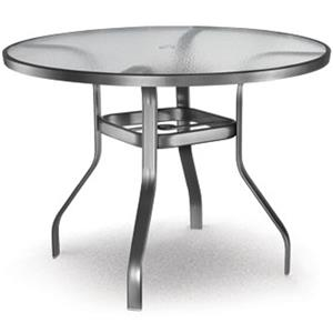 "Homecrest Glass 48"" Balcony Table with Umbrella Hole"