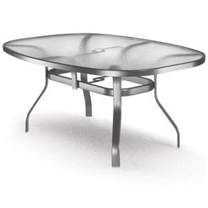 Homecrest Glass Ellipse Dining Table