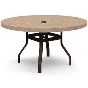 "Homecrest Sandstone 42"" Round Balcony Table with Umbrella Hole"